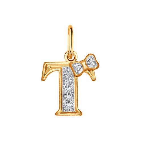 SOKOLOV Подвеска из золота с буквой «Т» 030666