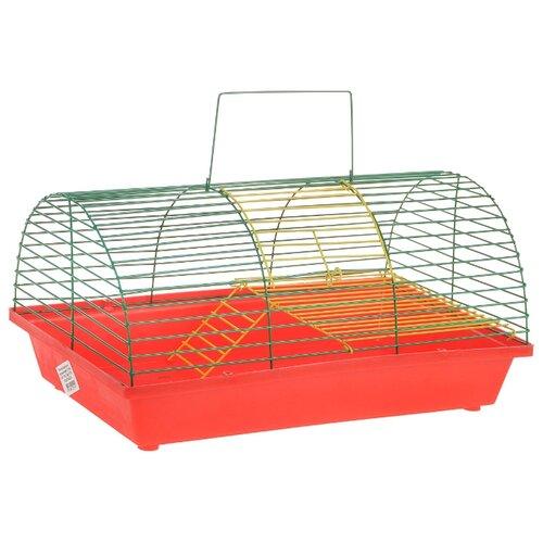Клетка для грызунов Зоо Марк 110Ж 36х23х17.5 см красный/зеленый