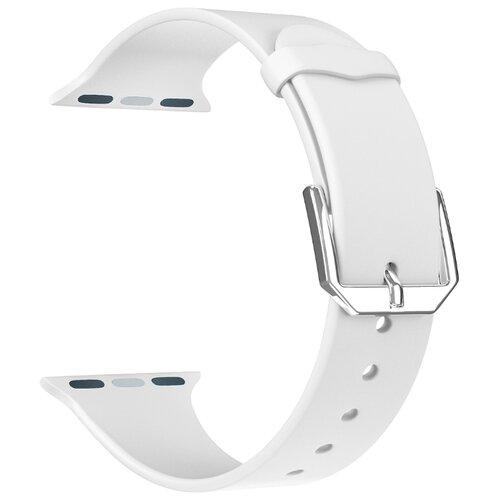 Фото - Lyambda Силиконовый ремешок Alcor для Apple Watch 42/44 mm white lyambda силиконовый ремешок alcor для apple watch 42 44 mm green