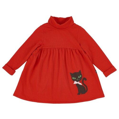 Платье Mini Maxi Черный кот размер 110, красный платье oodji ultra цвет красный белый 14001071 13 46148 4512s размер xs 42 170
