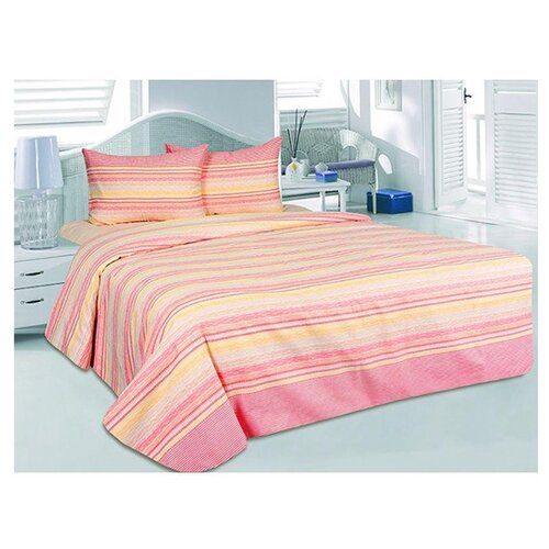 цена на Постельное белье 1.5-спальное ТЕТ-А-ТЕТ Элени, сатин розовый
