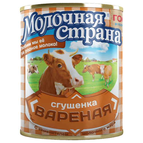 Сгущенка Молочная страна вареная 8.5%, 380 г