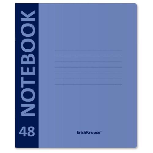 Купить ErichKrause Тетрадь Neon с пластиковой обложкой, клетка, 48 л., голубой, Тетради
