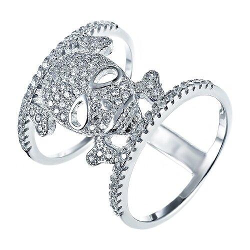 Фото - JV Кольцо с фианитами из серебра CAR1130-KO-001-WG, размер 16 jv кольцо с фианитами из серебра car2926 ko 004 wg размер 16