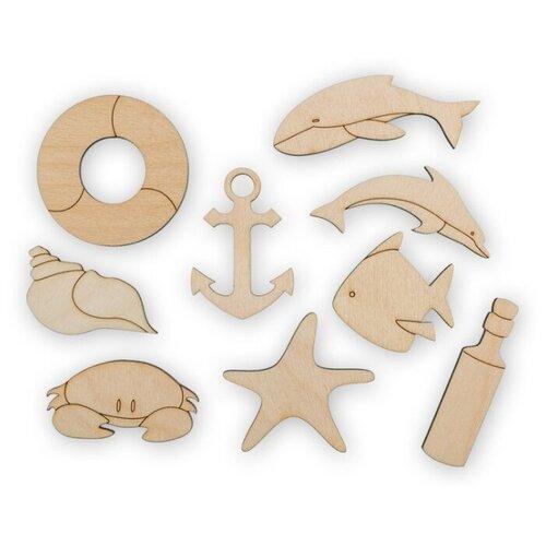 Купить Mr. Carving Набор заготовок для декорирования Морской ВД-397 (9 шт.) бежевый, Декоративные элементы и материалы