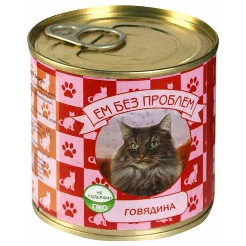 Фото - Влажный корм для кошек Ем Без Проблем беззерновой, с говядиной 250 г ем без проблем для взрослых кошек с говядиной 571 595 250 гр х 15 шт