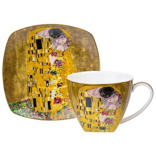 Фото - Чайная пара 2 предмета 250 мл 11,5х9х7,5 см Elan Gallery Поцелуй чайная пара фарфоровая 2 предмета 360 мл elan gallery птички на ветке 2 штуки