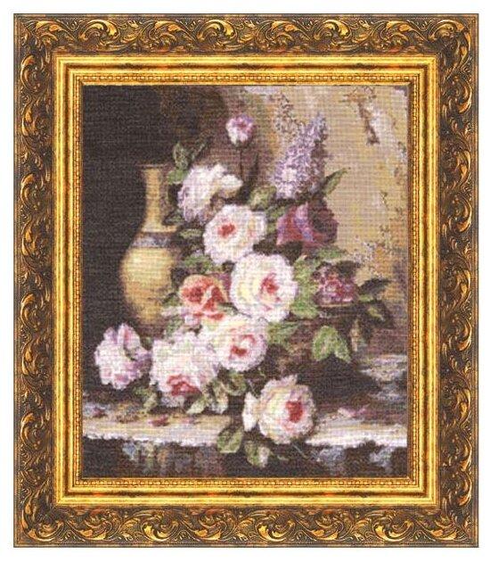Золотое Руно Набор для вышивания Мраморные розы