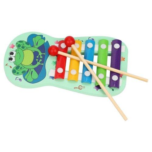 Купить Mapacha ксилофон 76764 голубой/зеленый, Детские музыкальные инструменты