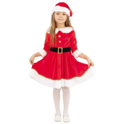 Костюм Батик Мисс Санта (2062 к-19), красный, размер 116 костюм мисс мафиози 50