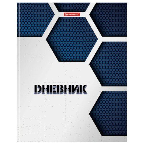 Купить BRAUBERG Дневник Монохром 105603 белый/синий, Дневники