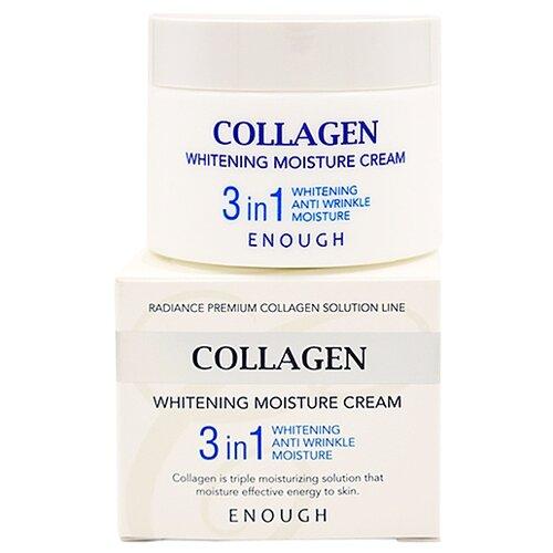 Фото - Enough Collagen Whitening Moisture Cream 3 in 1 Увлажняющий отбеливающий крем для лица с коллагеном 3 в 1, 50 мл осветляющий крем для век с коллагеном enough w collagen whitening premium eye cream