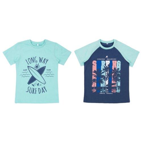 Купить Футболка Leader Kids размер 116, бирюзовый/синий, Футболки и майки