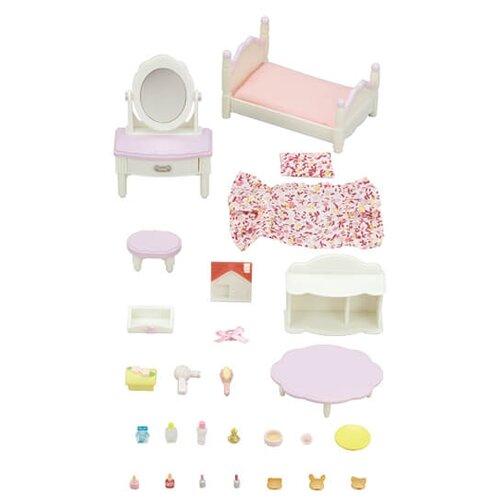 Купить Игровой набор Sylvanian Families Кровать с туалетным столиком 5285, Игровые наборы и фигурки