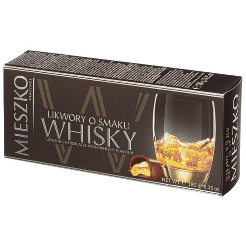 Набор конфет Mieszko Whisky ликёрные с виски, 180 г набор конфет mieszko с виски 180 г