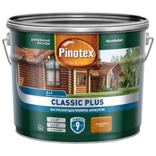 Водозащитная пропитка Pinotex Classic Plus лиственница 9 л