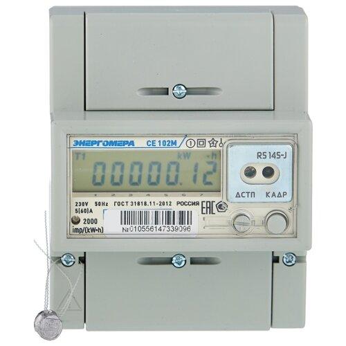 Счетчик электроэнергии однофазный многотарифный Энергомера CE 102M R5 145-J 5(60) А