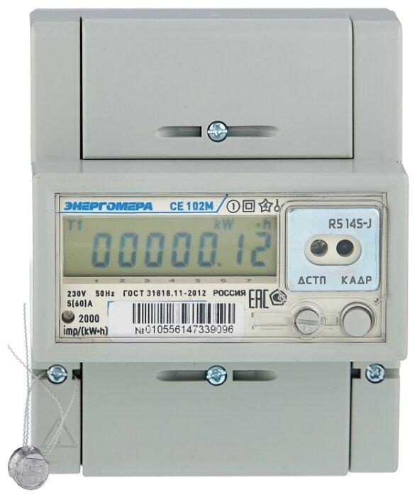 Счетчик электроэнергии однофазный многотарифный Энергомера CE 102M R5 145-J 5(60) А — купить по выгодной цене на Яндекс.Маркете