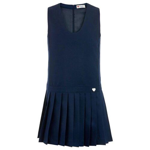 Купить Сарафан Button Blue размер 164, синий, Платья и сарафаны
