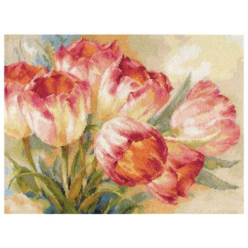 Фото - Алиса Набор для вышивания крестиком Тюльпаны 40 х 30 см (2-29) алиса набор для вышивания тюльпаны малиновое сияние 22 x 26 см 2 43