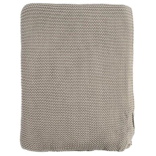 Плед TKANO Essential жемчужная вязка 180 х 220 см, серый