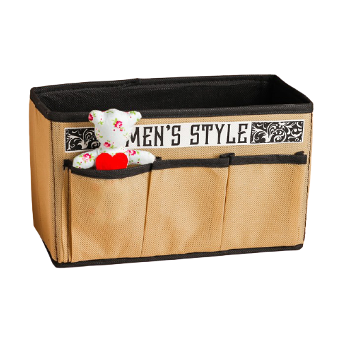 textura короб для хранения с крышкой 28 х 30 х 15 см home Textura Короб для хранения Men style 25 х 12 х 15 см бежевый/черный