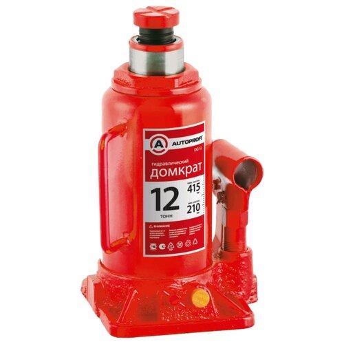 Домкрат бутылочный гидравлический AUTOPROFI DG-12 (12 т) красный