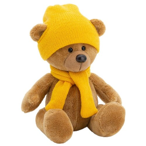 Мягкая игрушка Orange Toys Медведь Топтыжкин коричневый в шапке и шарфе 25 см