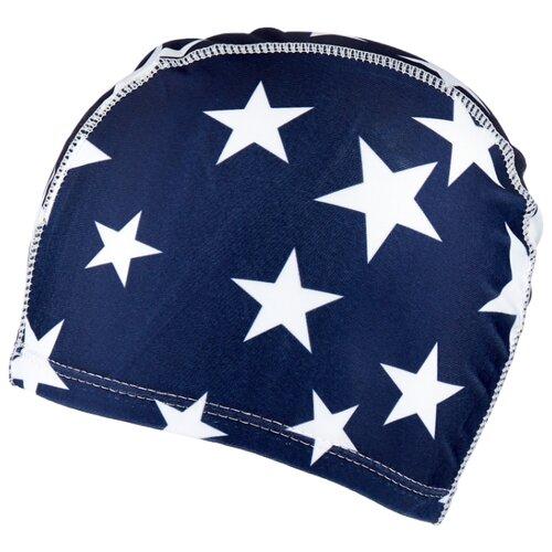 Шапочка для плавания BRADEX полиэстер синий/белый bradex шапочка для плавания bradex полиамид синий