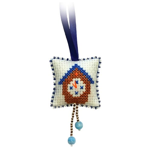 Купить ZENGANA Набор для вышивания бисером и нитками Часики 5 х 5 см (М-015), Наборы для вышивания