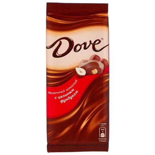 шоколад dove молочный миндально апельсиновый грильяж 90 г Шоколад Dove молочный с цельным фундуком, 90 г