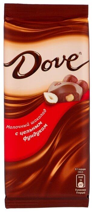Купить Шоколад Dove молочный с цельным фундуком, 90 г по низкой цене с доставкой из Яндекс.Маркета