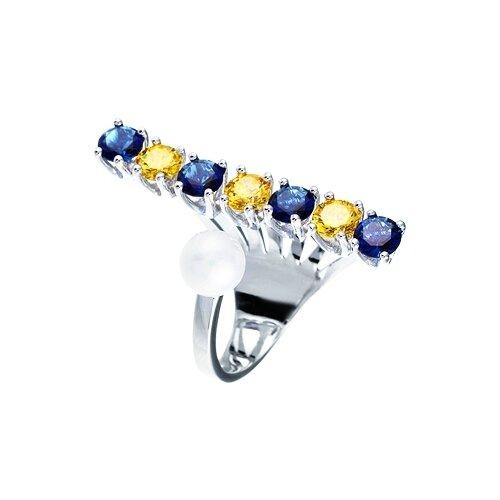 Фото - JV Кольцо с жемчугом и фианитами из серебра R24489-2-WM-001-WG, размер 17 jv кольцо с жемчугом и фианитами из серебра ol01367d ko wm 001 wg размер 17