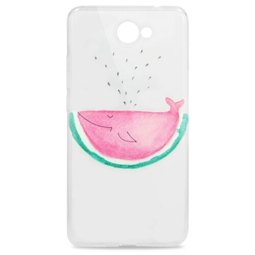 Купить Чехол Pastila Spring picture для Huawei Y7 (2017) розовый кит