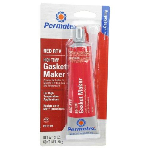 Универсальный силиконовый герметик для ремонта автомобиля PERMATEX 81160, 0.085 кг красный