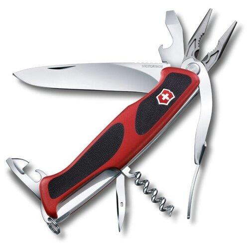 Нож многофункциональный VICTORINOX RangerGrip 74 (0.9723.CB1) (14 функций) красный/черный