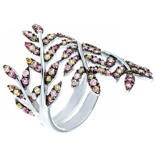 Фото - JV Кольцо с фианитами из серебра PR140071D-KO-001-WG, размер 16 jv кольцо с фианитами из серебра car2926 ko 004 wg размер 16