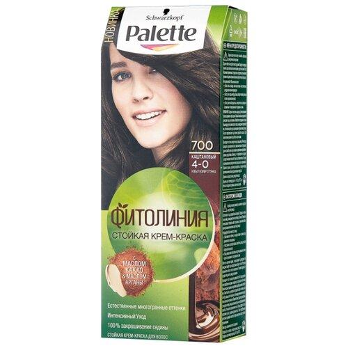 Фото - Palette Фитолиния Шоколадный Мокко стойкая крем-краска для волос, 700 4-0 Каштановый palette фитолиния стойкая крем краска для волос 868 3 68 шоколадно каштановый