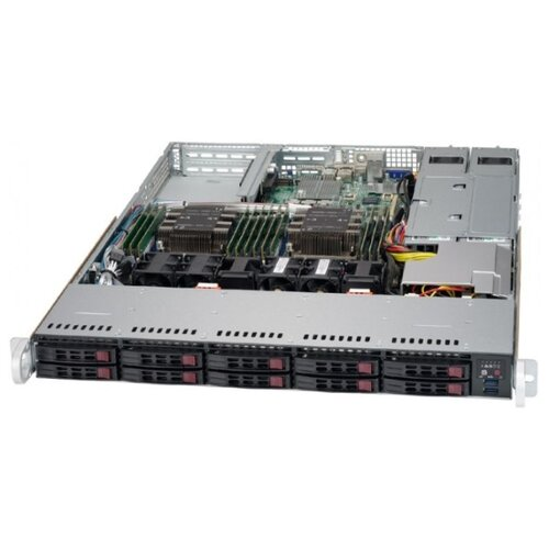 Сервер Supermicro SuperServer 1029P-WTRT без процессора/без ОЗУ/без накопителей/количество отсеков 2.5\