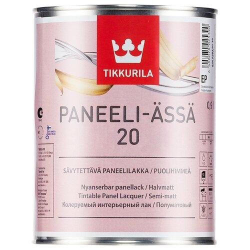 Лак Tikkurila Paneeli Assa 20 полиакриловый бесцветный 0.9 л лак tikkurila kiva 30 полиакриловый бесцветный 0 9 л