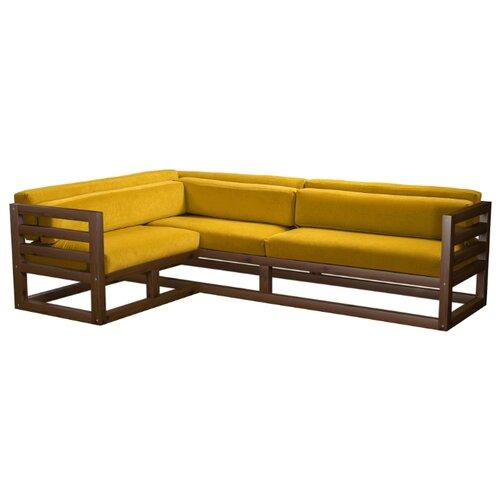 Угловой диван AnderSon Магнус угол: слева, размер: 250х170 см, обивка: ткань, орех/желтый диван угловой диван магнус магнус