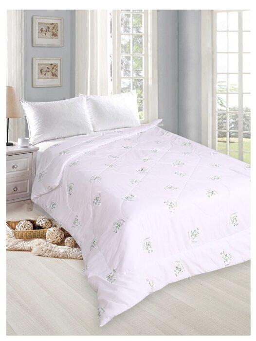 """Купить Одеяло облегченное """"Летнее настроение"""" 1,5-спальное, бамбук-на-белом по низкой цене с доставкой из Яндекс.Маркета (бывший Беру)"""