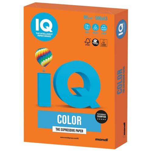 Фото - Бумага IQ Color A3 80 г/м² 500 лист. оранжевый OR43 1 шт. бумага iq color а4 color 120 г м2 250 лист оранжевый or43 1 шт