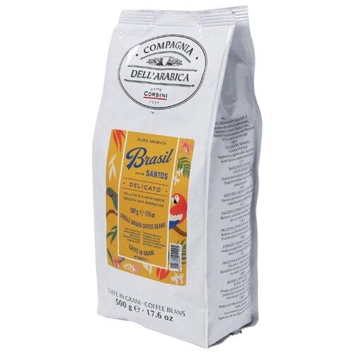 Фото - Кофе в зернах Compagnia Dell` Arabica Brasil Santos, 500 г кофе молотый compagnia dell arabica brasil santos 125 г