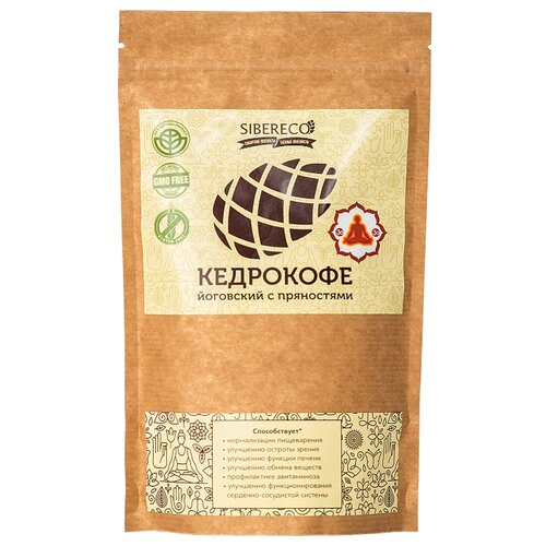 Цикорий SIBERECO Кедрокофе Йоговский с пряностями (без сахара) 250 г