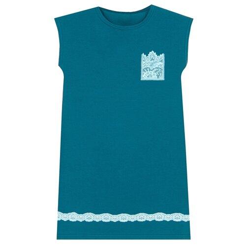 Сорочка Апрель размер 116-60, морская волна102+ментол