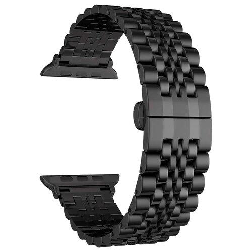 Фото - Lyambda Ремешок из нержавеющей стали Castor для Apple Watch 42/44 mm black смотреть ремешок ремешок весна бар ссылка pin remover ремонт инструмента из нержавеющей стали