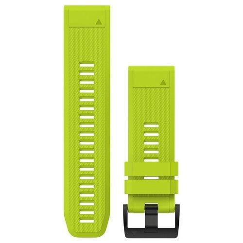 Купить Garmin Силиконовый ремешок QuickFit 26 мм для Garmin Fenix 5x Plus салатовый ребристый