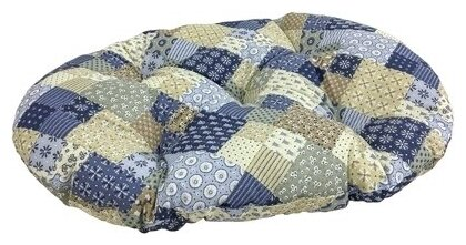 Подушка для кошек, для собак Бобровый Дворик Пэчворк №3 69х45 см
