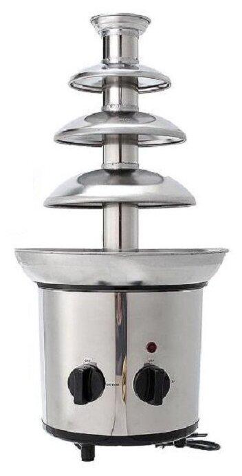 Шоколадный фонтан Keya Chocolate Fondue Fountain 4 яруса серый